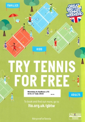 Great British Tennis Weekend Please come and Try tennis or Squash for Free